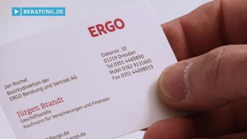 Filmreportage zu Jürgen Brandt Geschäftsstellenleiter der ERGO Beratung und Vertrieb AG