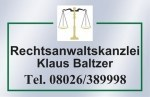Logo Rechtsanwaltskanzlei Klaus Baltzer