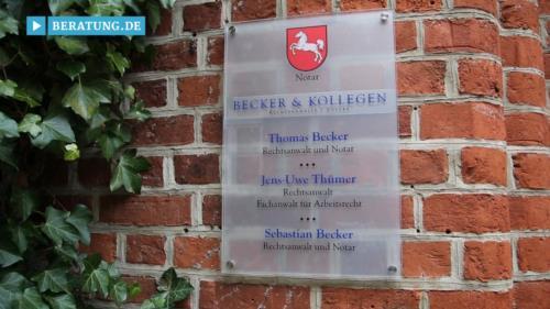 Filmreportage zu Becker & Kollegen  Rechtsanwälte und Notar