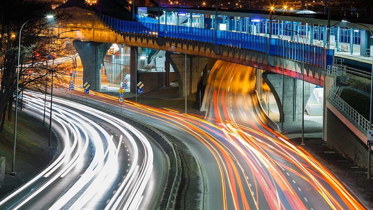 AltText: Verkehrsaufkommen in Gdynia (Pommern in Polen)
